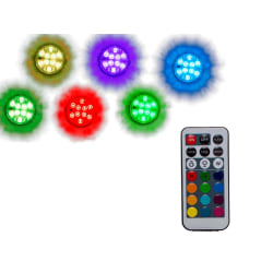 Undervattenslampa - Liten LED-lampa med RGB  multifärg