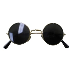 John Lennon / Runda Svarta Glasögon - Halloween & Maskerad