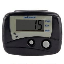 Stegräknare / Pedometer (Svart) - Räknar dina steg eller km