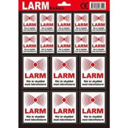 16-Pack - Larmdekaler / Klistermärke - Larm / Inbrottslarm