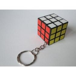 Mini Rubiks Kub med Nyckelring - 3 cm