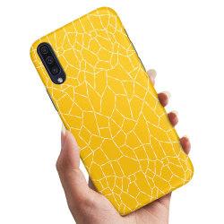 Huawei P20 - Skal / Mobilskal Gult Mönster
