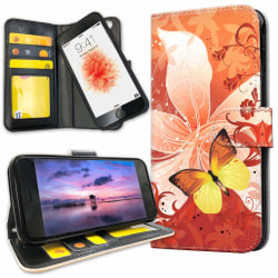iPhone 8 - Mobilfodral Fjäril & Blomma