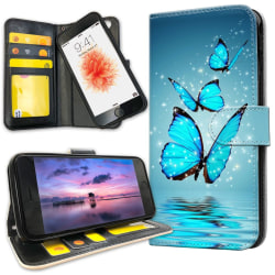 iPhone 8 - Mobilfodral Glittrande Fjärilar