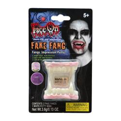 Löständer / Tänder till Halloween - Självlysande