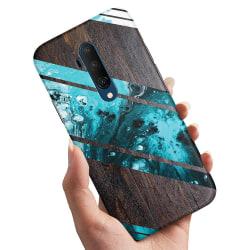 OnePlus 7T Pro - Skal / Mobilskal Blått Konstmönster