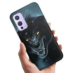 OnePlus 9 - Skal / Mobilskal Black Wolf
