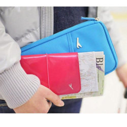Passfodral - Fodral / Plånbok till Pass & Resa - Ljusrosa