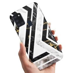 Samsung Galaxy A21s - Skal / Mobilskal Krokigt Mönster