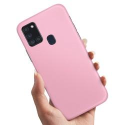 Samsung Galaxy A21s - Skal / Mobilskal Ljusrosa Ljusrosa
