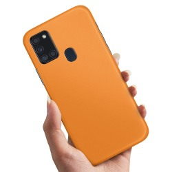 Samsung Galaxy A21s - Skal / Mobilskal Orange Orange