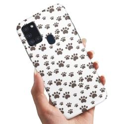 Samsung Galaxy A21s - Skal / Mobilskal Paw Pattern