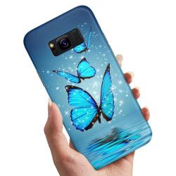Samsung Galaxy S8 Plus - Skal / Mobilskal Glittrande Fjärilar