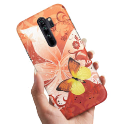 Xiaomi Redmi Note 8 Pro - Skal / Mobilskal Fjäril & Blomma