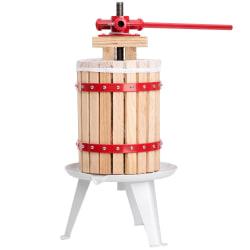 tectake Mekanisk fruktpress juicepress - 6 L Röd