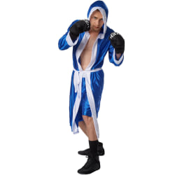 tectake Maskeraddräkt Herr Boxare blå/vit Blue XL