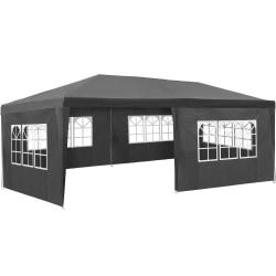 tectake Partytält 6x3m med 5 sidodelar grå