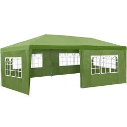 tectake Partytält 6x3m med 5 sidodelar Grön