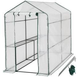 tectake Växthus med presenning Transparent