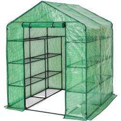tectake Växthus med presenning kvadratisk Grön