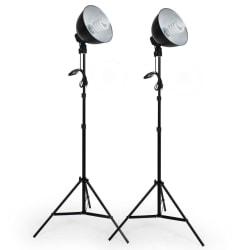 tectake 2 Proffs studiolampor för digitalt och analogt fotograti Svart