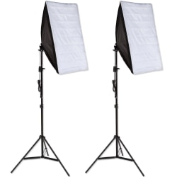 tectake 2x Studiolampa + softbox modell 1 Svart