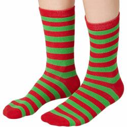 tectake Julsockor randiga grönt-rött Red 43-46