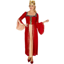 tectake Maskeraddräkt Drottning Red L