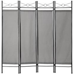 tectake Rumsavdelare vikskärm grå