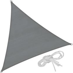 tectake Solsegel i polyeten trekantigt, grå - 360 x 360 x 360 cm grå