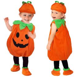 Halloween barn nyhet pumpa cosplay kostym hatt set 80cm