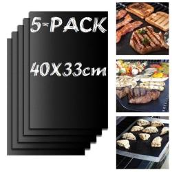 5-Pack Grillmatta Ugnsmatta & Bakningsmatta - Non Stick 40x33cm