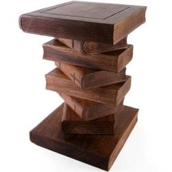 Handtillverkad Acacia trä Bord / Pall i form av böcker.Vikt 15kg