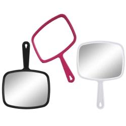 Stor Sminkspegel med handtag - spegel Svart