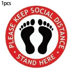1ST Håll avståndsklister Golvvarningstips för säkerhet utomhus Sticker 3 1PCS