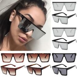 Fashion Ladies Big Frame Outdoors solglasögon Show Small Face Bright black all gray 3pair