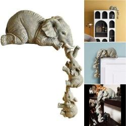 3ST Hängande elefant utomhus staty ornament trädgårdsdekoration