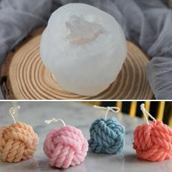 Ull silikon boll ljusform för familj DIY handgjorda