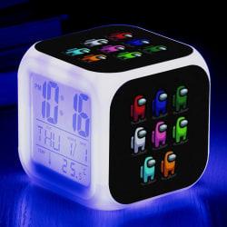 Bland oss LED väckarklocka lysande digital klocka barn gåva As pics