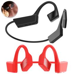 Benledningsheadset Trådlöst Bluetooth-headset Red