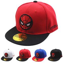 Andningsbar justerbar Spiderman basebollkeps för coola pojkar Black