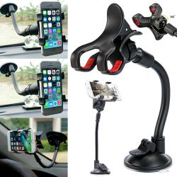 Bil multifunktions mobiltelefonhållare Universal för alla telefoner Black