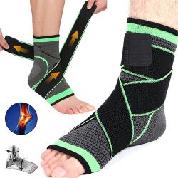 Elastisk stickad fotledsstöd Fitness Träning av fötter Green M