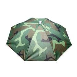 Fashionabla vikbara paraplyhatt Stabila ljus utomhus Unisex Camouflage