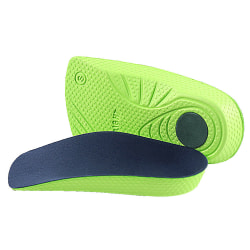 Fötter Ortotisk sko Innersula hög båge platt fotstöd Green S
