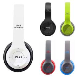 Fällbart trådlöst headset Bluetooth-headset Plug and Play Black