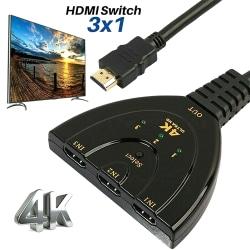 HDMI Splitter 3x1 4K Switch Home bibehåller hög upplösning As pics