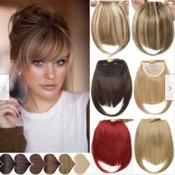 Förlängningar av mänskligt hår klämmer fast i / på hårets främre hårstycke 6A#