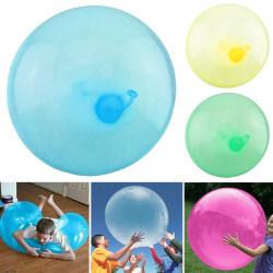 Uppblåsbar Bubble Ball Giant Toy Ball Soft Balloon Kids Outdoor Blue 60-70cm