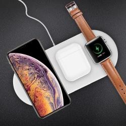 3-i-1 QI trådlös laddare Dock för iPhone iWatch AirPods